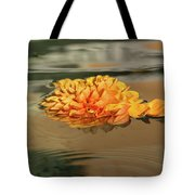 Floating Beauty - Hot Orange Chrysanthemum Blossom In A Silky Fountain Tote Bag