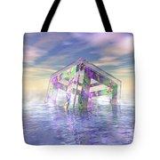 Floating Fractal Tote Bag