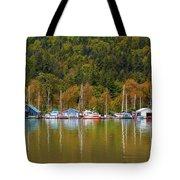 Floating Homes Along Multnomah Channel In Portland Oregon Tote Bag