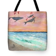 Floating Into The Sunset Tote Bag