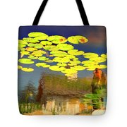 Floating Lily Pond Tote Bag