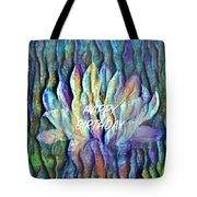 Floating Lotus - Happy Birthday Tote Bag
