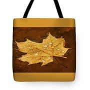 Floating Maple Leaf Txt Tote Bag