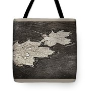 Floating Maple Leaves Bw Tote Bag