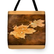Floating Maple Leaves Pnt Tote Bag