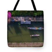 Floating Market Aerial View Tote Bag by Pradeep Raja PRINTS