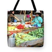 Floating Market In Thailand Tote Bag
