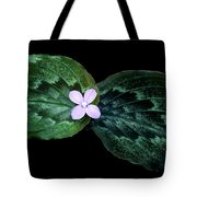 Floating Peacock Plant Tote Bag