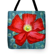 Floating Poppy Tote Bag