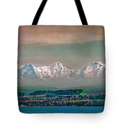Floating Swiss Alps Tote Bag