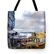 Floating Village Thailand Tote Bag