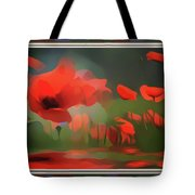 Floating Wild Red Poppies Tote Bag