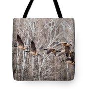 Flock Of Geese Tote Bag