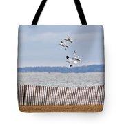 Flock Of Gulls Tote Bag