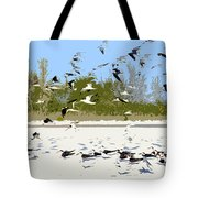 Flock Of Seagulls Tote Bag