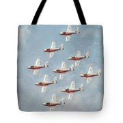 Flock Of Snowbirds Tote Bag
