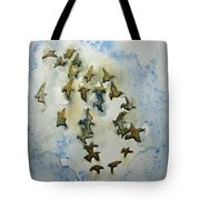 Flocking Birds Tote Bag