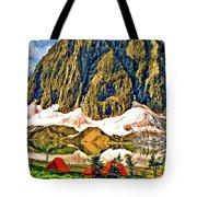 Floe Lake Painted Tote Bag