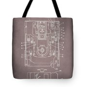 Floppy Disk Assembly Patent Drawing 1a Tote Bag
