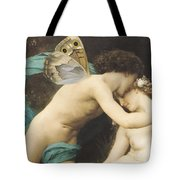 Flora And Zephyr Tote Bag by William Adolphe Bouguereau