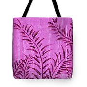 Flora Fauna Tropical Abstract Leaves Painting Magenta Splash By Megan Duncanson Tote Bag