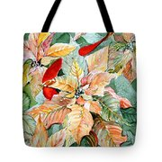 A Peachy Poinsettia Tote Bag
