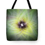Floral Abstract Square Tote Bag