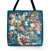 Floral Abstract Still Life Tote Bag