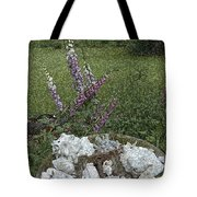 Floral Abstract With Anchor Tote Bag