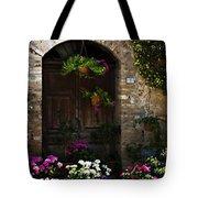 Floral Adorned Doorway Tote Bag