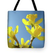 Floral Art Daffodil Flowers Spring Prints Blue Sky Baslee Troutman Tote Bag