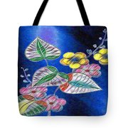 Floral Art Illustrated Tote Bag