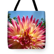 Floral Art Pink Yellow Dahlia Flower Baslee Troutman Tote Bag
