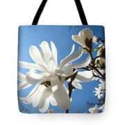 Floral Art Print Landscape Magnolia Tree Flowers White Baslee Troutman Tote Bag