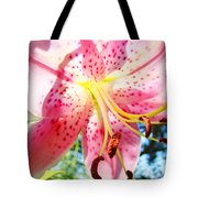 Floral Art Print Pink Summer Lily Flower Lilies Baslee Troutman Tote Bag