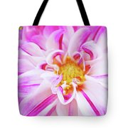 Floral Art Prints Big Pink White Dahlia Flower Baslee Troutman Tote Bag