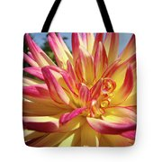 Floral Art Prints Bright Dahlia Flower Canvas Baslee Troutman  Tote Bag