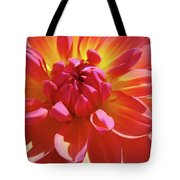Floral Art Prints Orange Pink Dahlia Flower Baslee Troutman Tote Bag