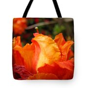 Floral Art Prints Orange Rhodies Rhododendrons Baslee Troutman Tote Bag