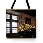 Floral At Chenonceau Tote Bag