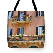 Floral Balcony Tote Bag