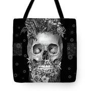 Floral Beard Skull 3 Tote Bag