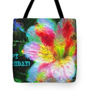 Floral Birthday Card Tote Bag