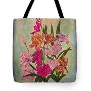 Floral Bouquet Tote Bag