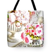 Floral Bouquets Pink Roses  Tote Bag