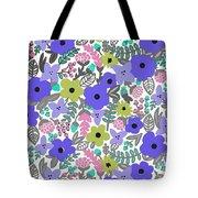 Floral Burst Of Blue Tote Bag