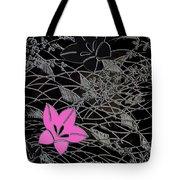 Floral Chirimen Tote Bag
