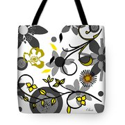 Floral Collision Tote Bag