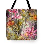 Floral Cosmos Tote Bag