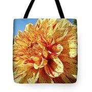 Floral Dahlia Flower Art Print Orange Red Dahlias Baslee Tote Bag